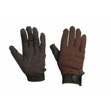 Dublin Adult's Track Riding Gloves (Brown)