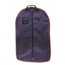 Dublin Imperial Coat Bag Dog Print (Navy/Red)