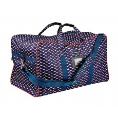 Dublin Imperial Hold All Bag Dog Print (Navy/Red)