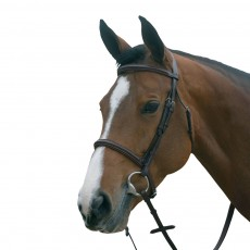 Mark Todd Plain Raised Bridle with Cavesson Noseband (Havana)