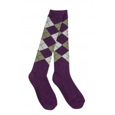 Dublin Adults Argyle Socks (Purple Ash)