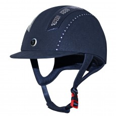 Gatehouse (Ex Display) Chelsea Air Flow Pro Riding Hat Crystal (Suedette Navy)