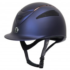 Gatehouse (Ex Display) Conquest MKII Riding Hat (Navy/Rose Gold Ltd Ed)