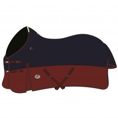 JHL (Clearance) Mediumweight Turnout Rug (Navy & Burgundy)