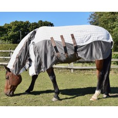 Mark Todd (Clearance) Air Mesh Combo Rug (White, Blue & Tan)