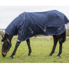 Mark Todd (Clearance) Lightweight Turnout Rug (Navy & Beige) - No Neck