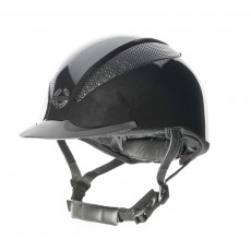 Champion (Ex Display) Air-Tech Deluxe Riding Hat (Metallic Black) (Size Large)
