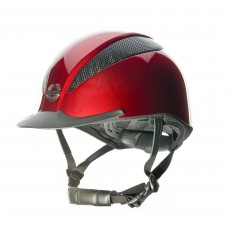 Champion (Ex Display) Air-Tech Deluxe Riding Hat (Metallic Ruby) (Size Small)