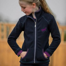 Mark Todd Kids Toddy Fleece Jacket (Navy/Purple)