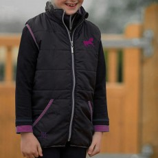 Mark Todd (Clearance) Kids Quilted Gilet (Navy/Purple)