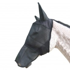 Mark Todd Full Face Fly Mask With Ears (Black)
