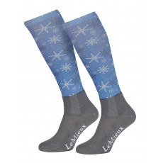 LeMieux Adults Footsie Sock (Snowflakes)