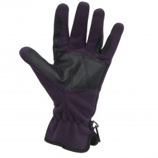Dublin Adults Polar Fleece Riding Gloves (Purple)