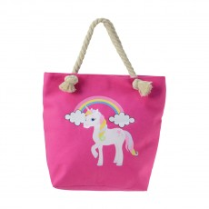 Little Rider Unicorn Tote Bag (Pink)