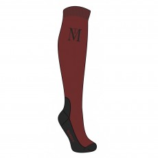 Mark Todd Competition Socks (Burgundy/Black)
