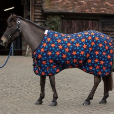 Mark Todd Medium Weight Pony Stable Rug (Navy/Orange Stars)