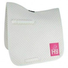 HyWITHER Embroidered Competition Dressage Pad (White)