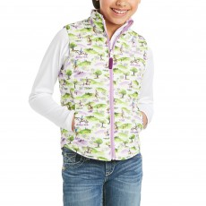 Ariat Youth Emma Insulated Reversible Vest (Hunt Scene Print)