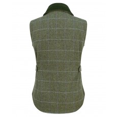 Hoggs of Fife Ladies Albany Lambswool Tweed Waistcoat (Green)