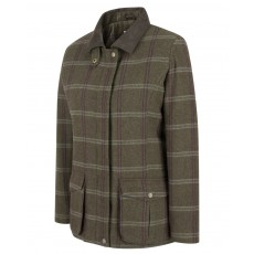 Hoggs of Fife Ladies Musselburgh Tweed Field Coat (Bracken Tweed)