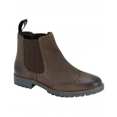 Hoggs of Fife Ladies Paddock Brogue Chelsea Boot (Brown)