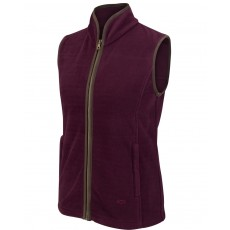 Hoggs of Fife Ladies Stenton Fleece Gilet  (Merlot)
