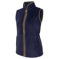 Hoggs of Fife Ladies Stenton Fleece Gilet  (Navy)