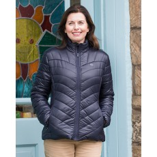 Hoggs of Fife Ladies Wilton Padded Jacket (Dark Plum)