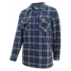 Hoggs of Fife Men's Caithness Polar Fleece Workshirt (Navy/Grey Check)