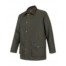 Hoggs of Fife Men's Caledonia Wax Jacket (Antique Olive)