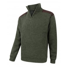 Hoggs of Fife Men's Hebrides Zip Neck Windproof Pullover (Lovat)