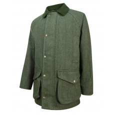 Hoggs of Fife Men's Helmsdale Waterproof  Tweed Shooting Jacket (Green)