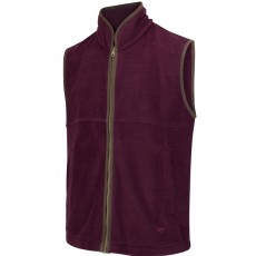 Hoggs of Fife Men's Stenton Technical Fleece Gilet (Merlot)