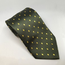 Equetech Diamond Show Tie (Forest/Gold)