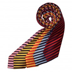 Equetech Broad Stripe Show Tie (Red/Gold)
