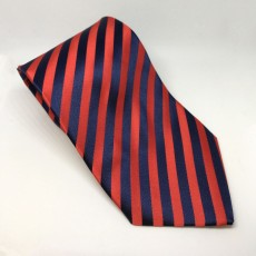 Equetech Broad Stripe Show Tie (Red/Navy)