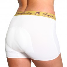 Derriere Equestrian Women's Performance Padded Shorty (White)
