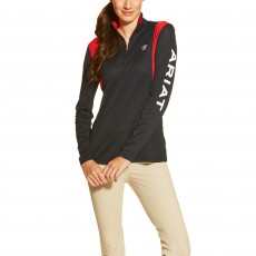 Ariat Women's Team Sunstopper Quarter Zip Top (Navy)