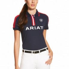 Ariat Women's FEI World Cup New Team Polo (Navy)