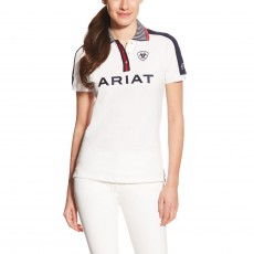 Ariat Women's FEI Team Polo (White/Navy)