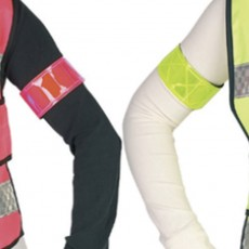HyVIZ Rider Elasticated Arm/Leg Band (Yellow/Navy)