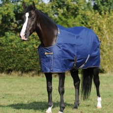 Bucas Irish Turnout Light/50 Rug (Navy/Gold)