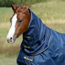 Bucas Irish Turnout Combi Neck (Navy/Gold)