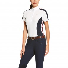 Ariat (Sample) Women's Aptos Colourblock Shirt (White/Navy)