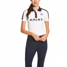 Ariat Women's New Team Polo (White)