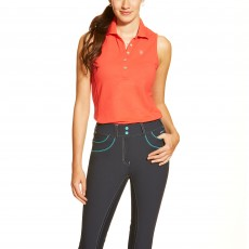 Ariat Women's Prix Sleeveless Polo (Flame)