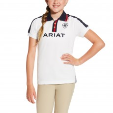 Ariat Kid's New Team Polo (White)