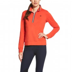 Ariat Women's Ballad Half Zip Top (Strike Here)