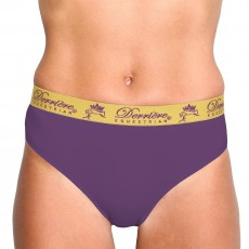 Derriere Equestrian Women's Performance Panty (Purple)