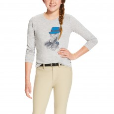 Ariat (Sample) Girl's Gracious Tee (Heather Grey)